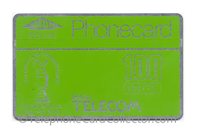 BTC003: 116th Muirfield Open Golf Championship - 100unit BT Phonecard