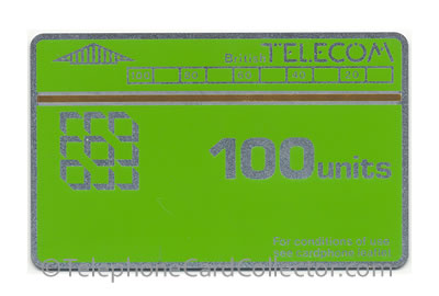 BTE001: 1st Issue Definitive Thermographic Trial - BT Phonecard