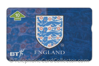 BTI209: Euro '96 Collectors Card - The FA Crest - BT Phonecard