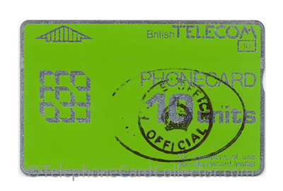 Hand stamped Home Office Official 10unit BTD013 - BT Phonecard