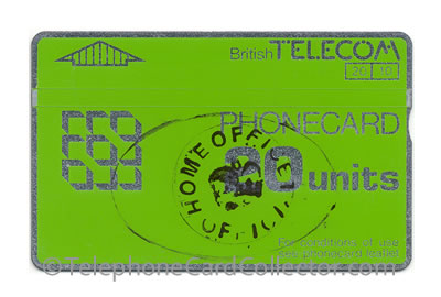 Hand stamped Home Office Official 20unit BTD014 - BT Phonecard