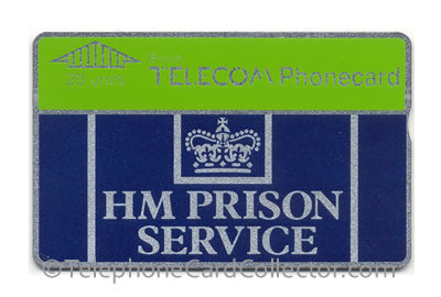 HM Prison Service use only: specially encoded BT Phonecards first appeared in 1989.