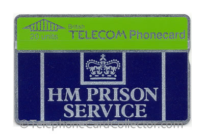 CUP001B: HM Prison Service ('20' 2.6mm Thick Letters) - BT Phonecard