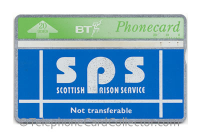 CUP003: Scottish Prison Service (Thermographic Band) - BT Phonecard
