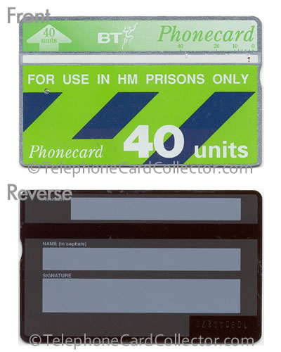 CUP006: HM Prisons Only (Thermographic Band) - BT Phonecard