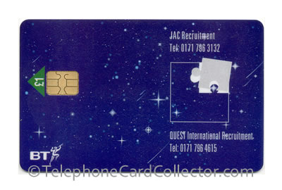 PRO123: JAC Recruitment - BT Phonecard