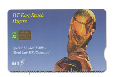 PRO395: BT EasyReach Pagers - World Cup Winners - BT Phonecard