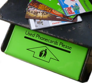BT Phonecard disposal bin for used cards
