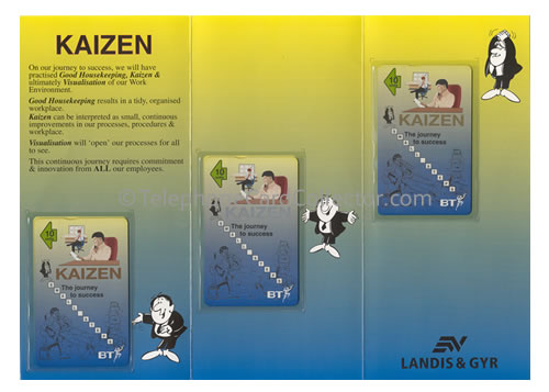 Kaizen folder complete with all three BT Phonecards